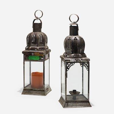 FOLK ART, lanterns from Textiles & Objects, pair   Wright20.com