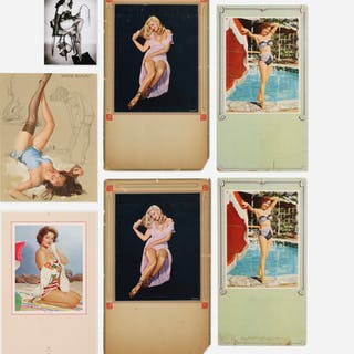 AMERICAN, collection of seven Pin-ups | Wright20.com