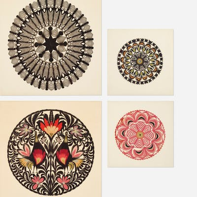 FOLK ART, Wycinanki, set of five from Textiles & Objects | Wright20.com