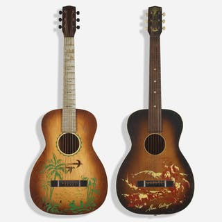 SUPERTONE, acoustic parlor guitars, set of two | Wright20.com