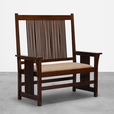GUSTAV STICKLEY, settle, model no. 286 | Wright20.com