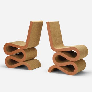 FRANK GEHRY, Wiggle chairs, pair | Wright20.com