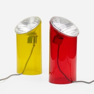 PIERO CASTIGLIONI, Parodia table lamps, pair | Wright20.com