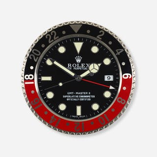 ROLEX, GMT Master II Series dealer clock | Wright20.com