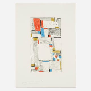 FRITZ GLARNER, Color Drawing for Relational Painting | Wright20.com