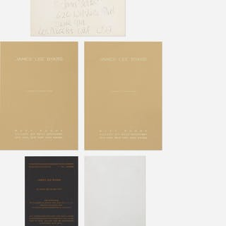 JAMES LEE BYARS, collection of four exhibition announcements and envelopes