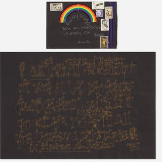 JAMES LEE BYARS, letter mailed to Tommy Longo | Wright20.com