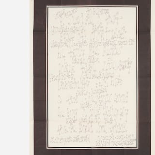 JAMES LEE BYARS, letter with printed border | Wright20.com
