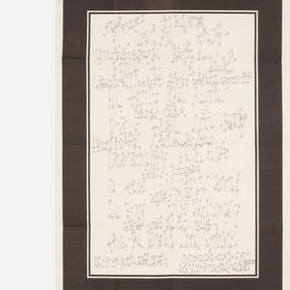 JAMES LEE BYARS, letter with printed border   Wright20.com