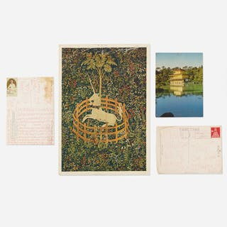 JAMES LEE BYARS, collection of four postcards mailed to Tommy Longo