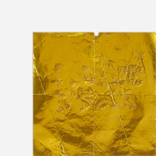 JAMES LEE BYARS, text on metallic gold paper | Wright20.com