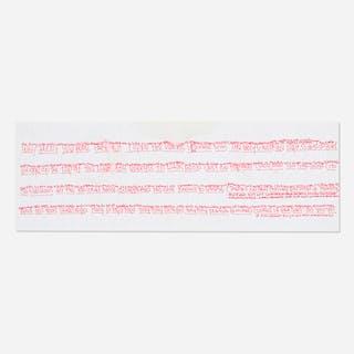 JAMES LEE BYARS, letter on illustrated plate (Bern die Hauptstatt