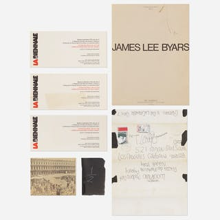 JAMES LEE BYARS, collection of four performance announcements and