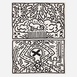 KEITH HARING, Nuclear Disarmament poster | Wright20.com