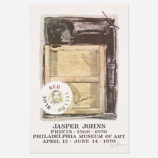 JASPER JOHNS, Souvenir exhibition poster | Wright20.com