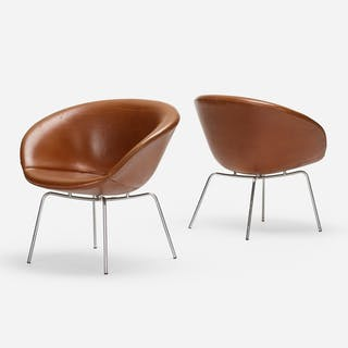 ARNE JACOBSEN, Pot chairs, pair | Wright20.com