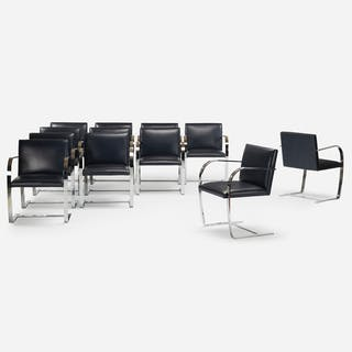 LUDWIG MIES VAN DER ROHE, Brno chairs, set of twelve | Wright20.com