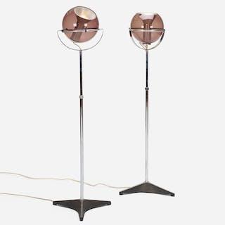 FRANK LIGTELIJN, Globe floor lamps, pair | Wright20.com
