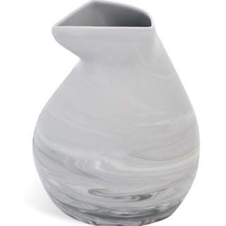 "MEISSEN Krug ""Antarctica"", marmoriert light grey"