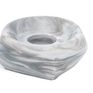 """MEISSEN Leuchter """"Antarctica"""", Stabkerze, marmoriert light grey"""