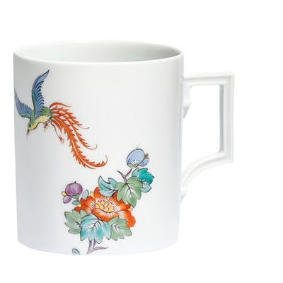"MEISSEN Kaffeebecher, Form ""Berlin"", ""Chinoiserie Bird"""